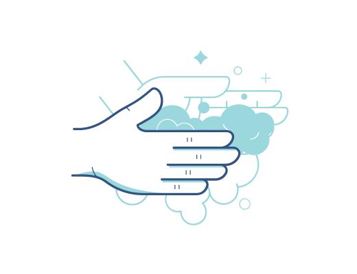 Lavandose las manos antes de ponerse los lentes de contactos