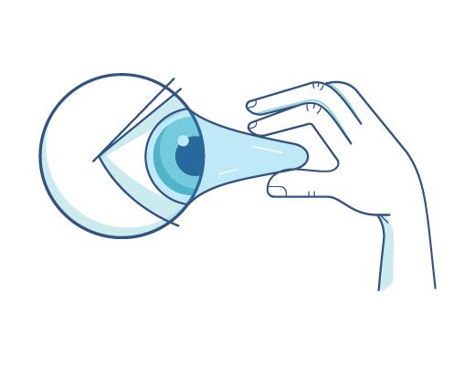 Accion de removerse lente de contacto