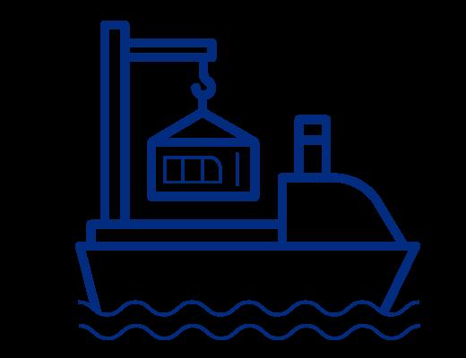 icono de transporte marítimo